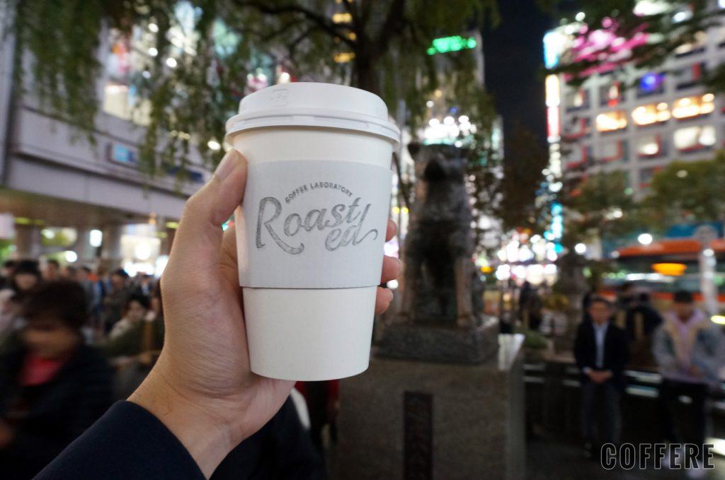 Roasted COFFEE LABORATORY 東急東横店_カップとハチ公