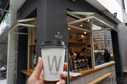 ABOUT LIFE COFFEE BREWERSのカップと外観