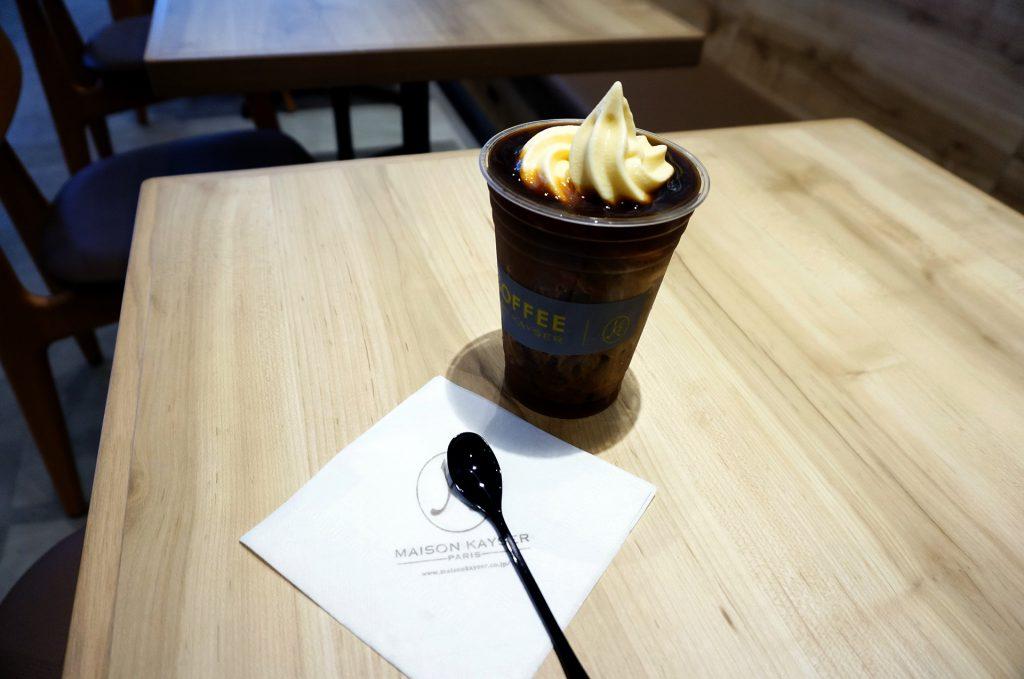 andcoffee_コーヒーソフトクリーム乗せアイス