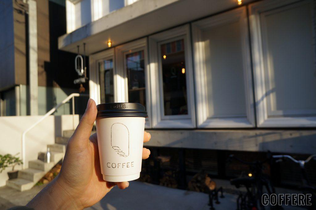 CHOP COFFEEのカップと外観