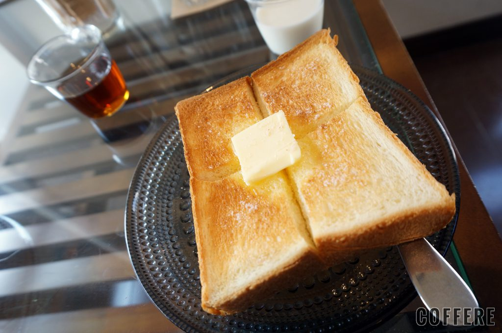 Ryumon coffee standのモーニングのトースト