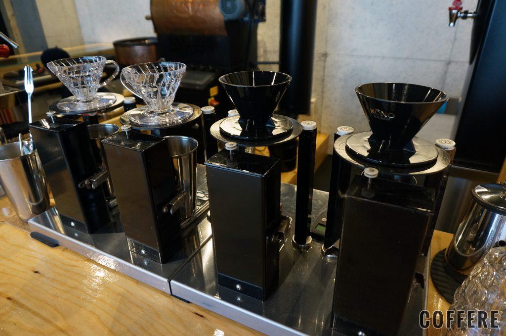 HEART'S LIGHT COFFEEのタンテコーヒードリップマシン