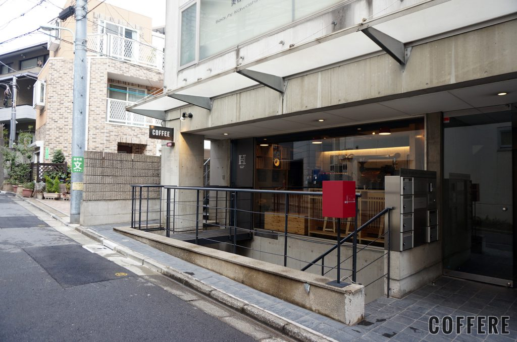 HEART'S LIGHT COFFEEの渋谷側から来た時に見える外観