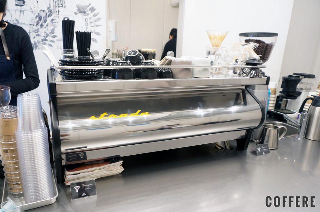 TINTO COFFEEのエスプレッソマシン