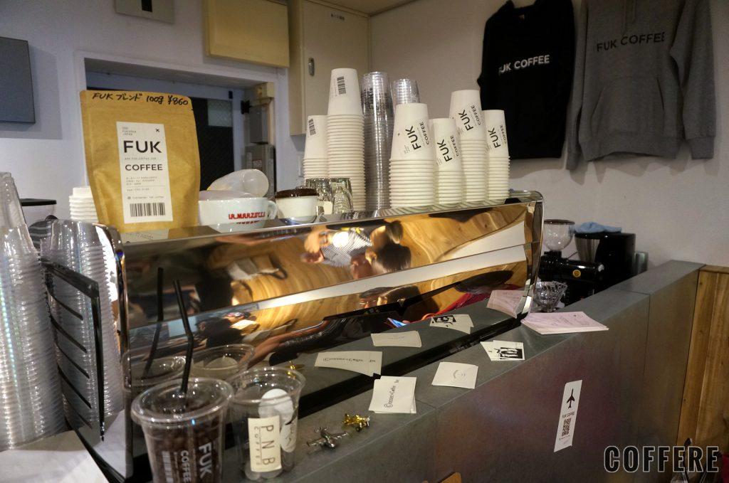 FUK COFFEEのエスプレッソマシン
