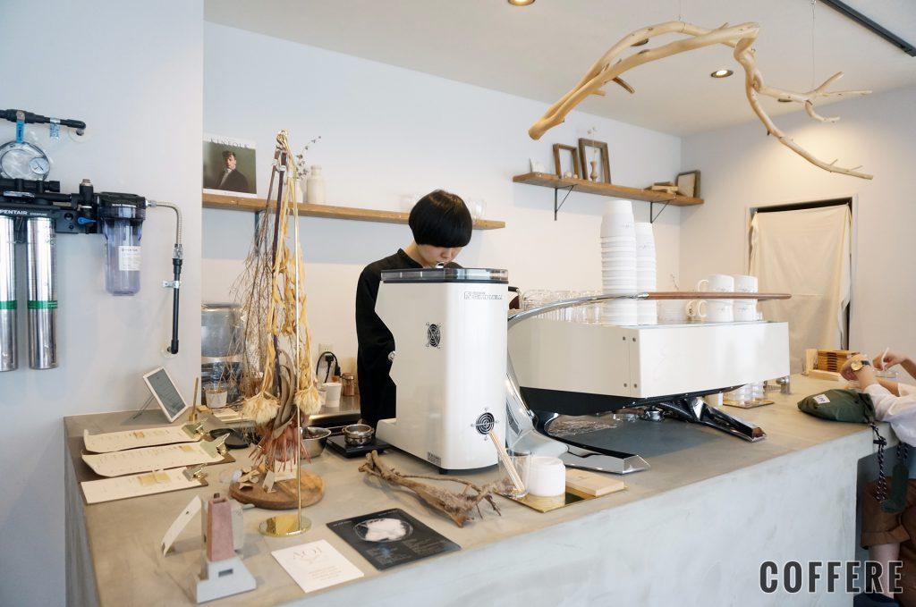 Siro Coffeeのカウンター