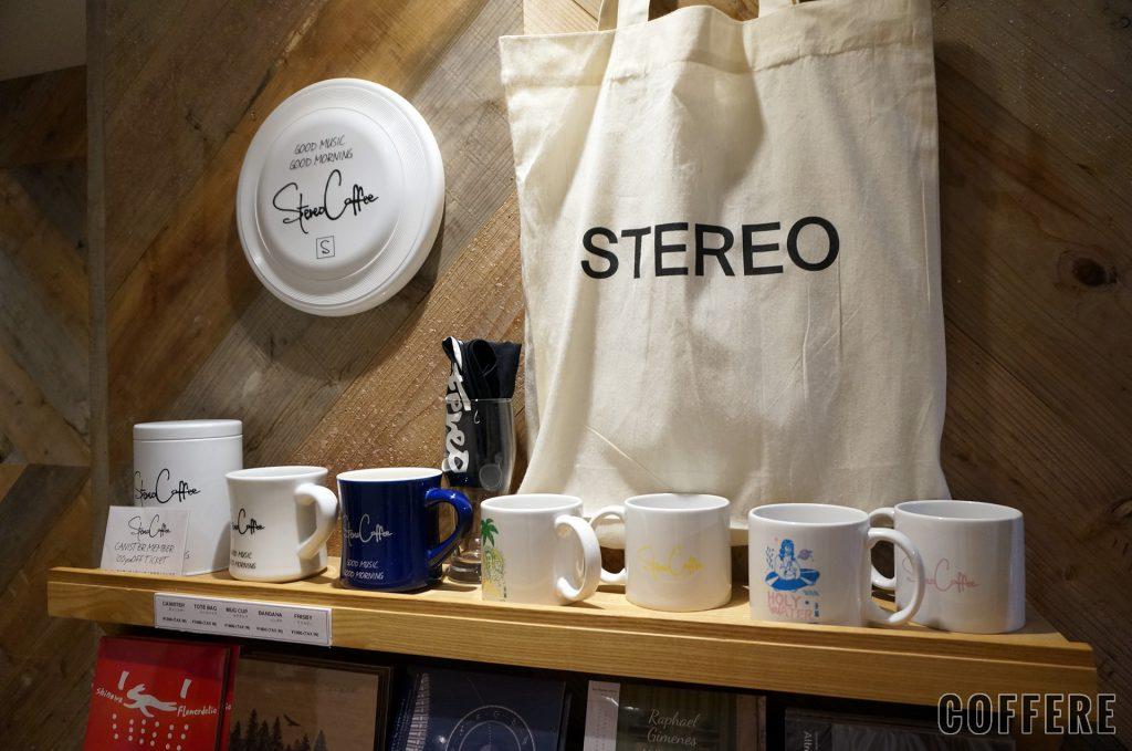 STEREO COFFEEの物販コーナー