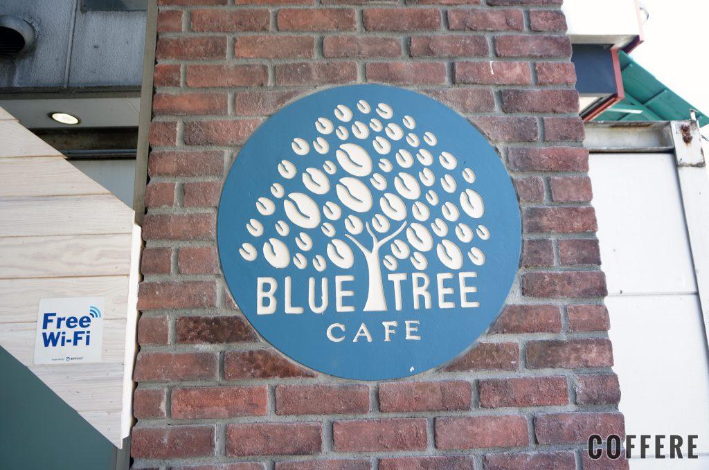 Bluetreeの入り口のロゴ