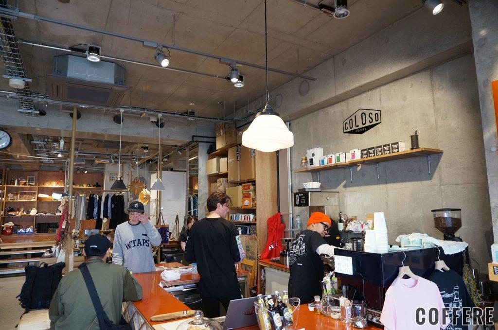 COLOSO COFFEE TOKYOのカウンター