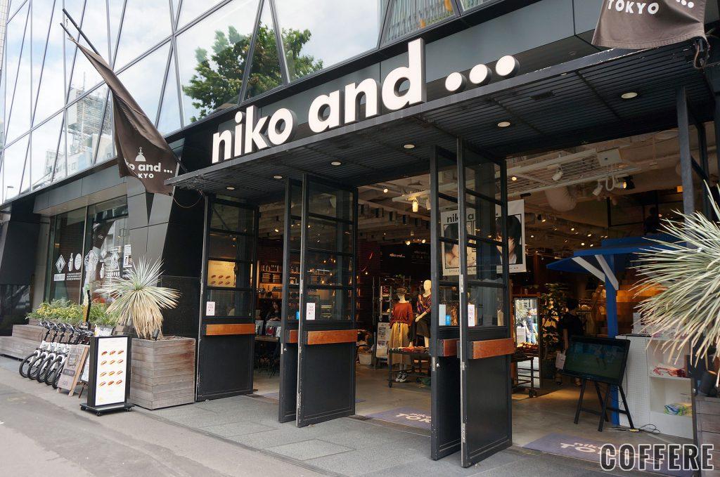 niko and ... COFFEE TOKYOの外観・入り口
