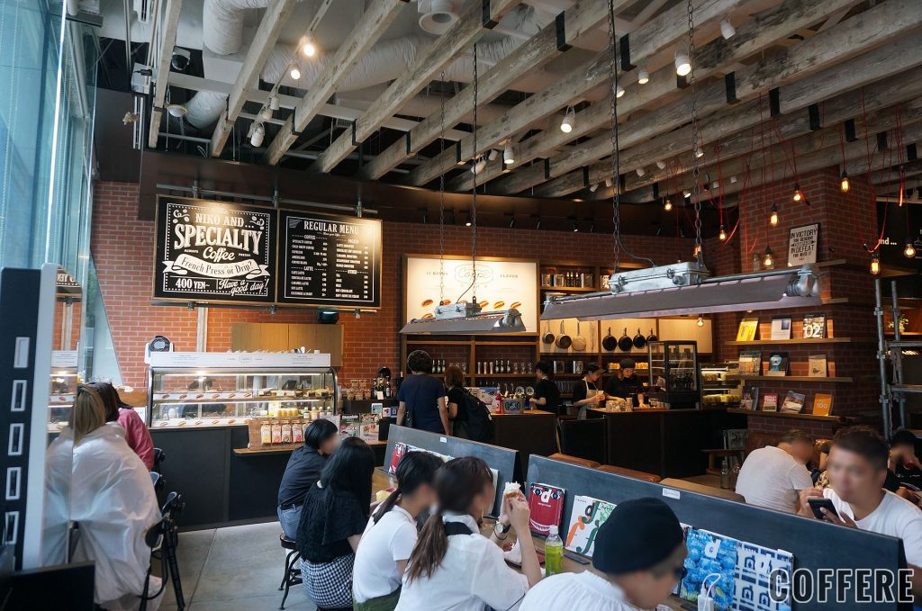 niko and ... COFFEE TOKYOの内装