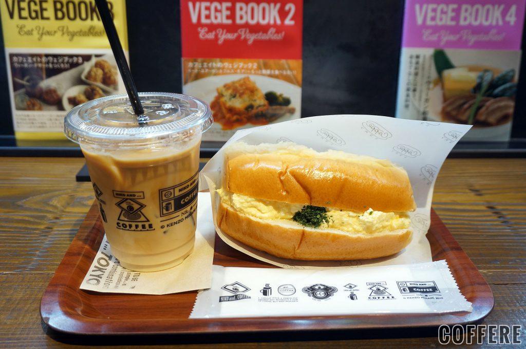 niko and ... COFFEE TOKYOのスペシャリティアイスラテとタマゴサンド