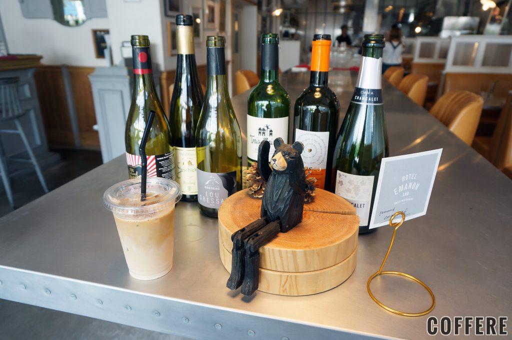 イタリアンレストランなので、ワインも多数取り揃えている