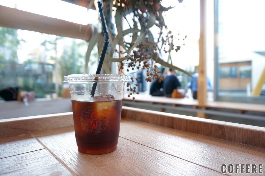 Coffee Wright 表参道のアイス用テイクアウトカップ