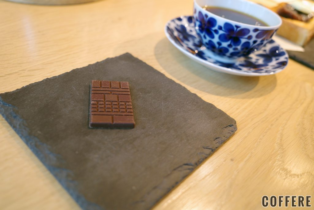 コーヒーにはチョコレートがついてくる