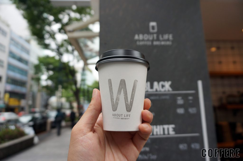 ABOUT LIFE COFFEE BREWERSのテイクアウトカップデザイン