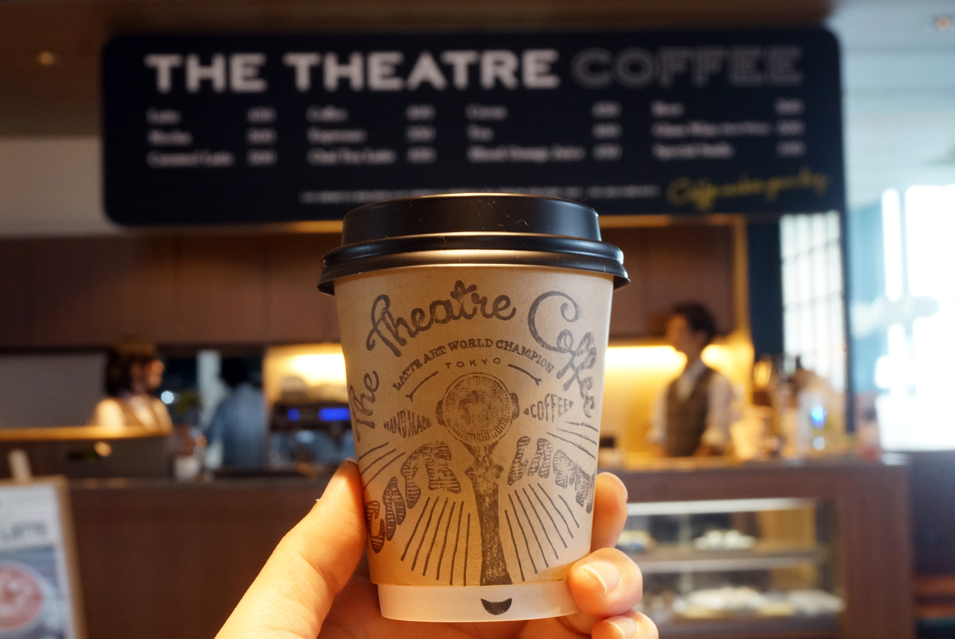 シアターコーヒーのカフェラテ