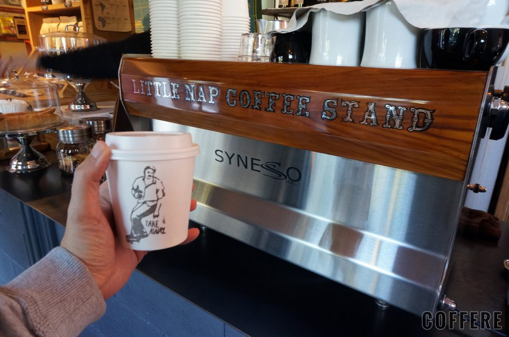 Little Nap COFFEE STANDのエスプレッソマシン