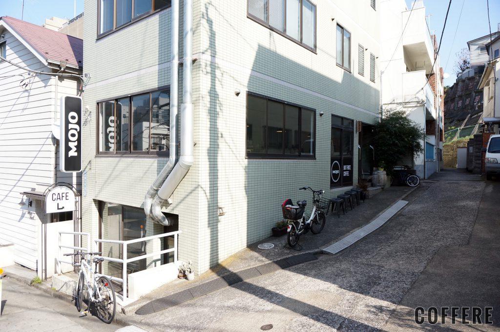 MOJO COFFEE 神楽坂 外観 道路側から
