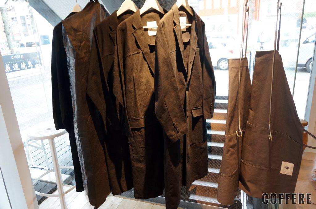 ink. by CANVAS TOKYOではコートやエプロンも販売