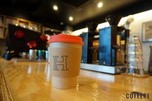 HEART'S LIGHT COFFEEのテイクアウトカップ