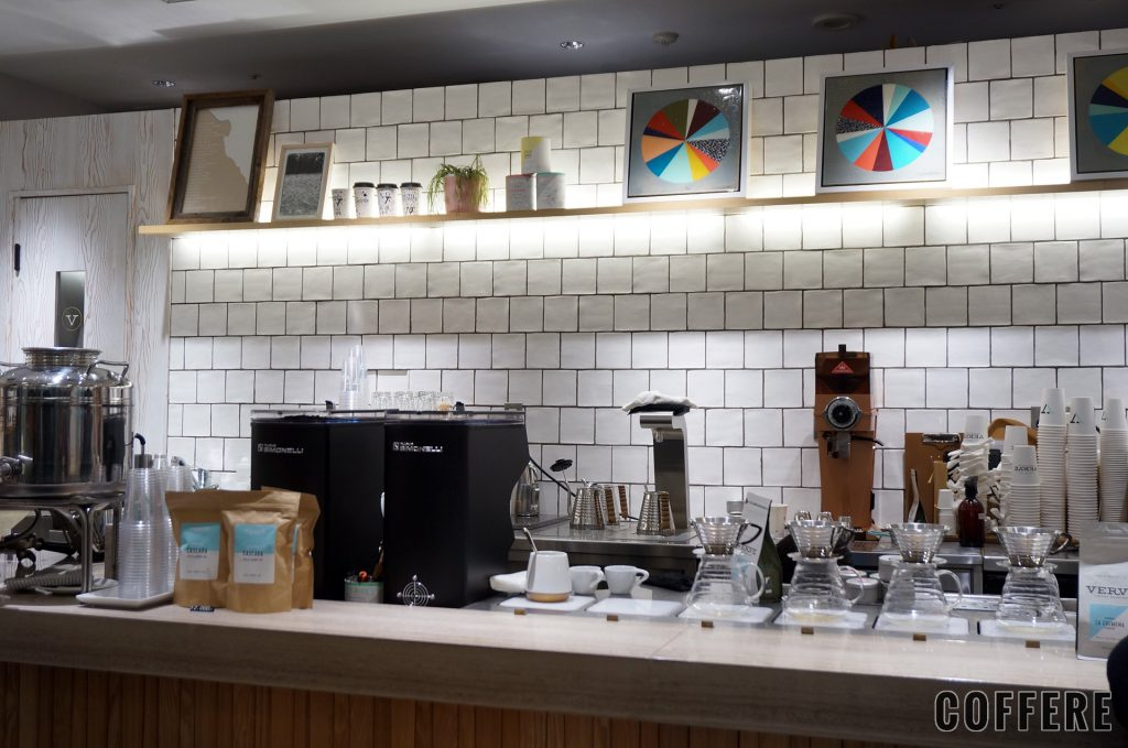 VERVE COFFEE ROASTERSのカウンター