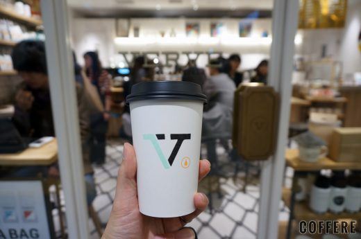 hand with VERVE COFFEE ROASTERS coffeecup