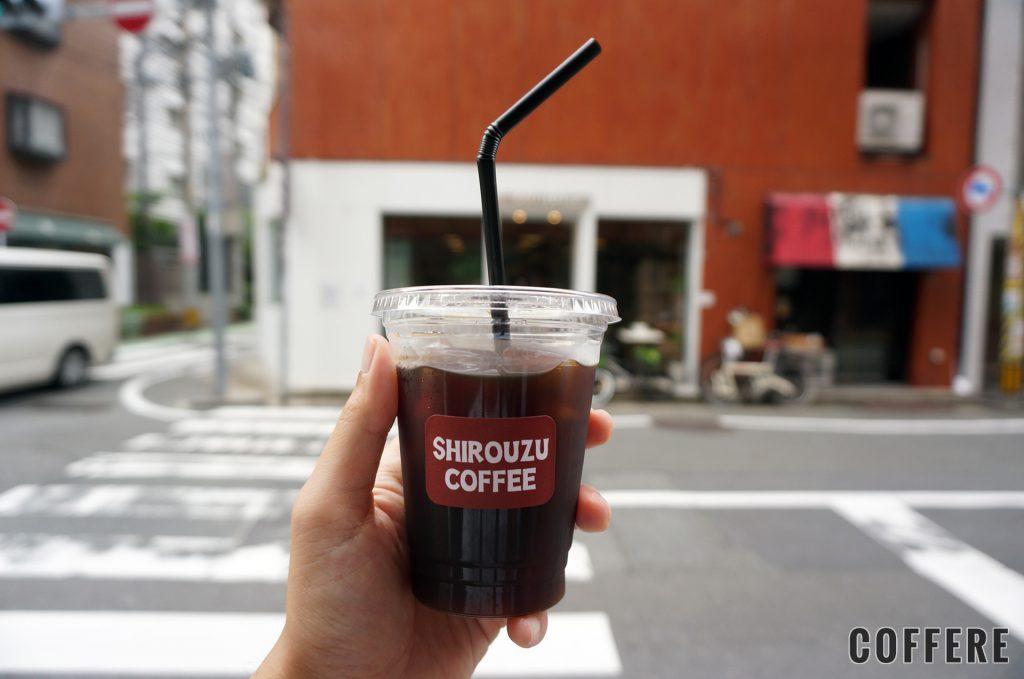 SHIROUZU COFFEE 警固店のテイクアウトカップ