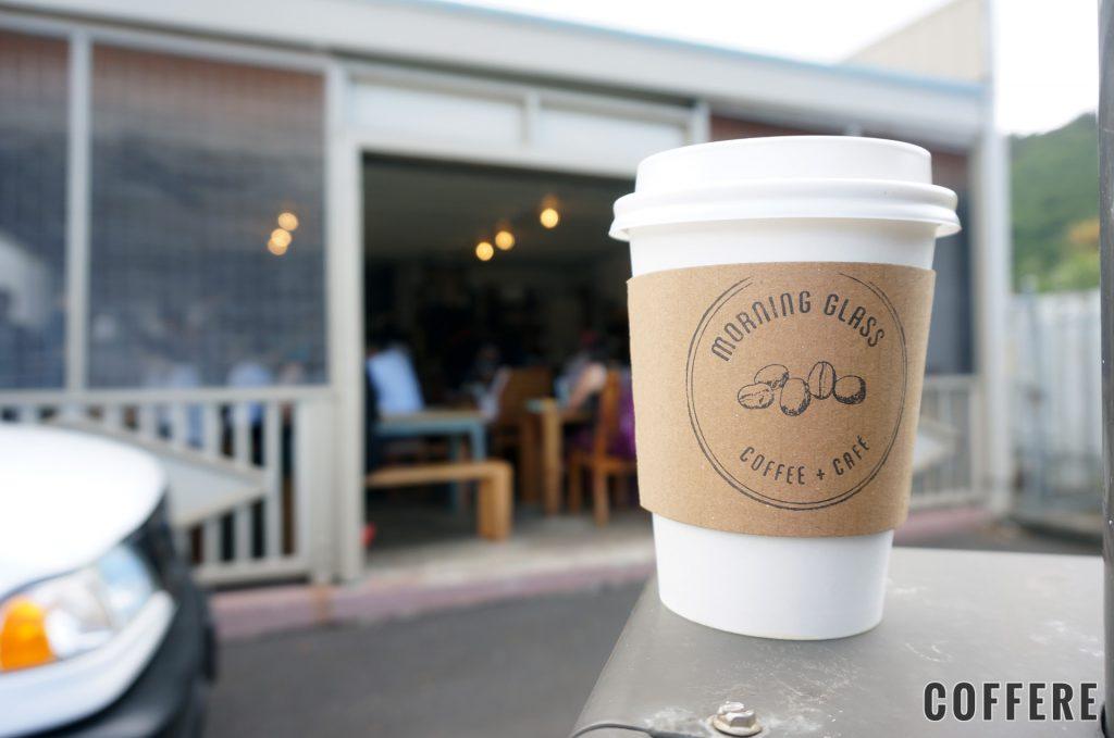 MORNING GLASS COFFEE MANOAのテイクアウトカップデザイン