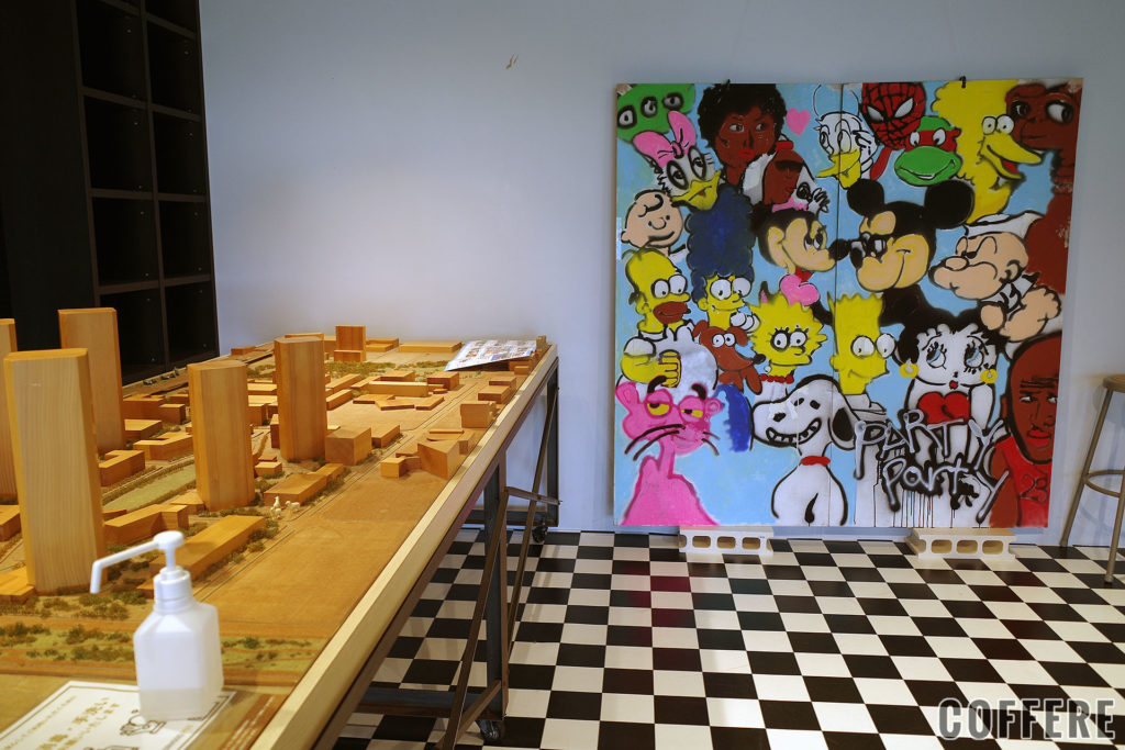 MAKUHARI BASEに飾られた模型と絵