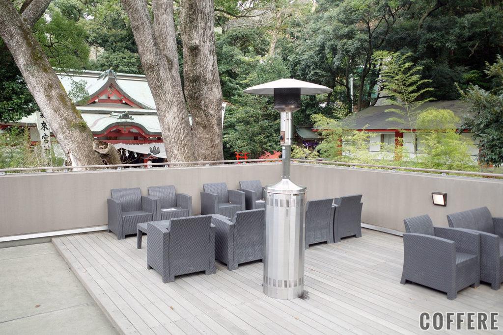 来宮神社 Stand Cafe 楠の香のテラス席